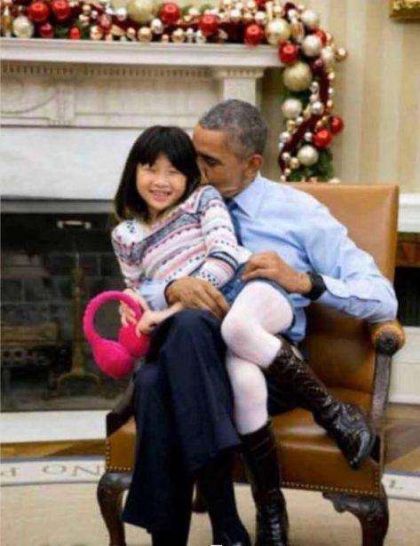obama petite fille asiatique